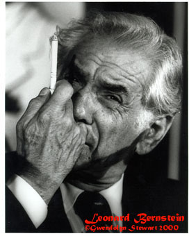 Photograph of LEONARD BERNSTEIN by GWENDOLYN STEWART c. 2009; All  Rights Reserved