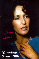 Joan Baez Photographed by Gwendolyn Stewart,  c. 2011; All Rights Reserved