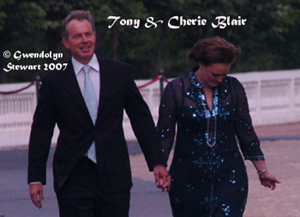 Photograph of TONY & CHERIE BLAIR by GWENDOLYN STEWART c. 2009; All  Rights Reserved