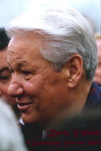 Photograph of  BORIS YELTSIN by GWENDOLYN STEWART c. 2009; All Rights Reserved