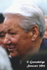 Boris Yeltsin Photographed in Harbin, China, in  November 1997, Photographed by Gwendolyn Stewart c. 2011; All Rights Reserved