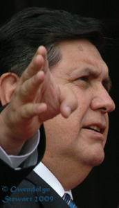 Peruvian  President Alan Garcia Photographed by Gwendolyn Stewart c. 2009; All Rights  Reserved