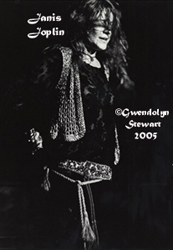 Photograph of JANIS JOPLIN by GWENDOLYN STEWART  c. 2009; All Rights Reserved