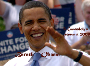 Photograph of Barack Obama by GWENDOLYN STEWART c. 2009; All Rights Reserved