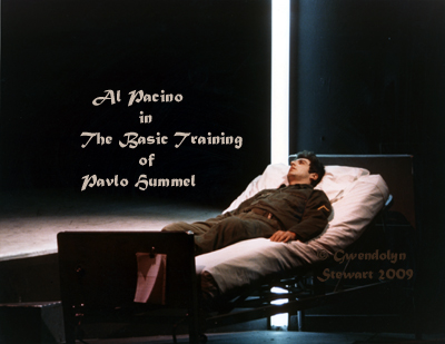 Photograph of AL PACINO Starring in David Rabe's Play, THE BASIC TRAINING OF PAVLO  HUMMEL, by Gwendolyn Stewart, c. 2009; All Rights Reserved