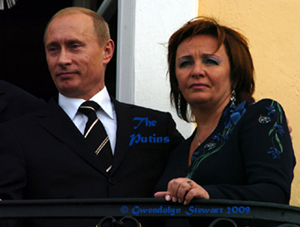 Photograph  of Vladimir and Lyudmila Putin by Gwendolyn Stewart, c. 2009; All Rights Reserved