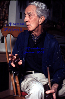 Photograph of NORMAN ROCKWELL by  GWENDOLYN STEWART, c. 2009; All Rights Reserved