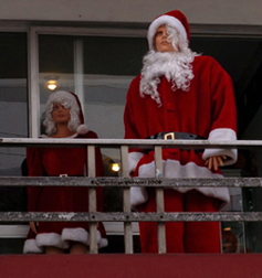 Photograph of Mr. & Mrs. Claus by GWENDOLYN STEWART c. 2009; All Rights Reserved