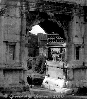The Arch of Titus, Rome,  Italy, Photographed by Gwendolyn Stewart, c. 2011; All Rights  Reserved