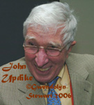 JOHN UPDIKE  photographed by GWENDOLYN STEWART c. 2009; All Rights Reserved